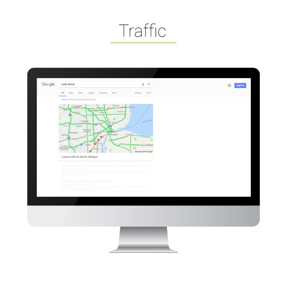 Universal Search: Traffic