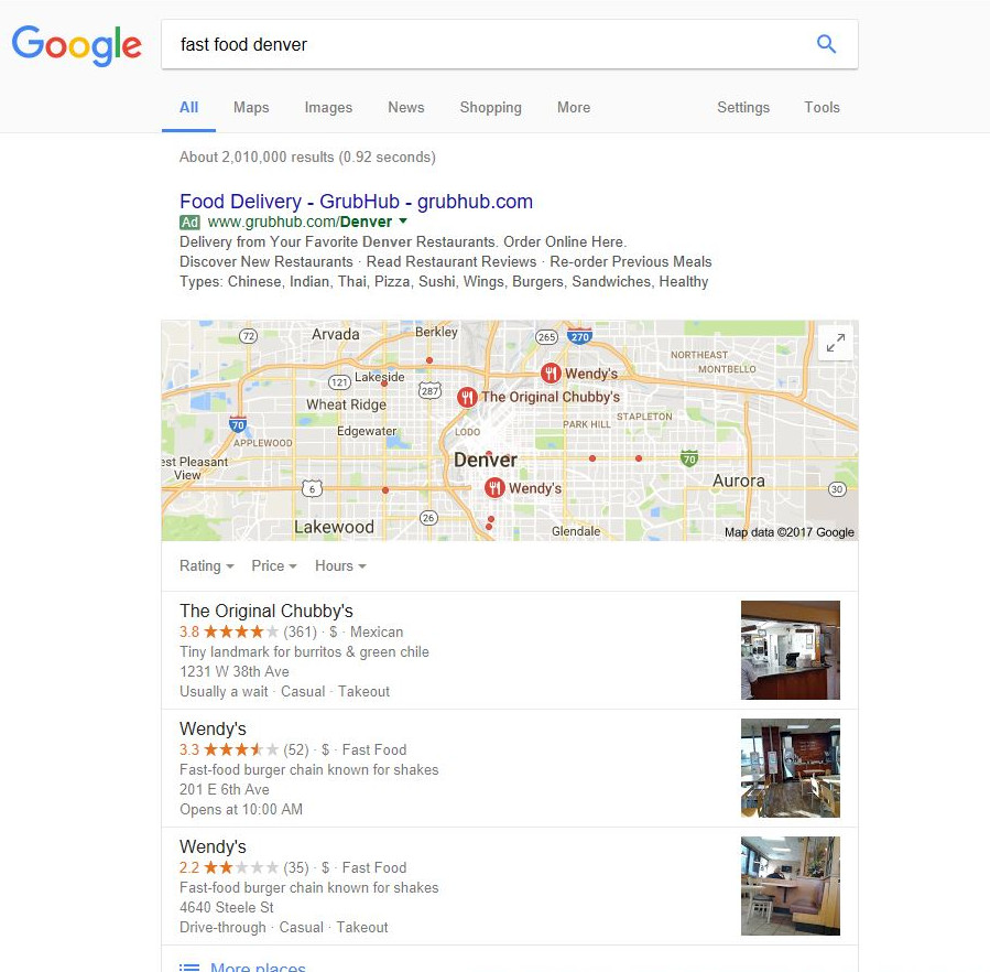 What is Universal Search: Example - Maps