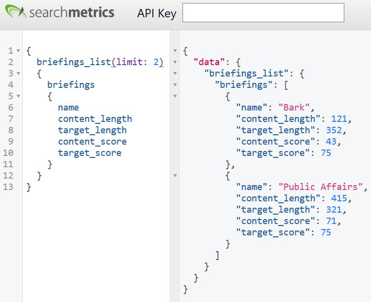 Searchmetrics: Content Experience API