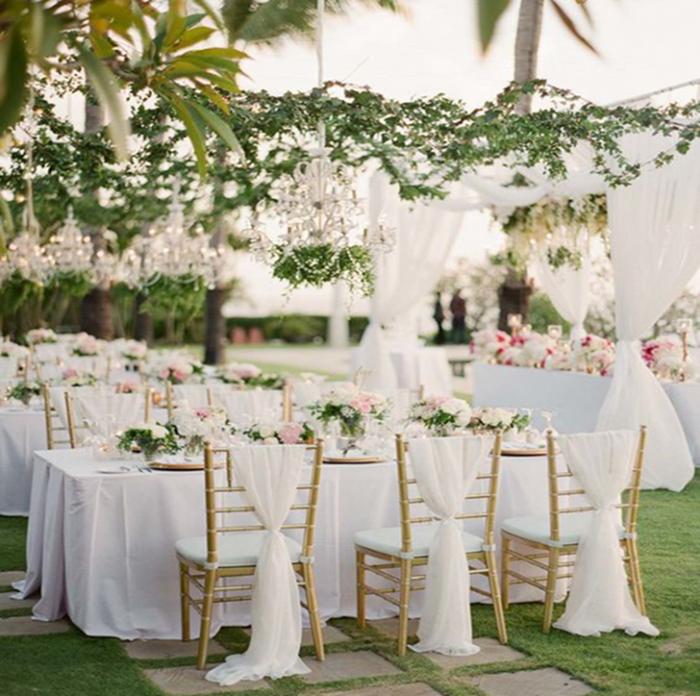 luxury wedding outdoors