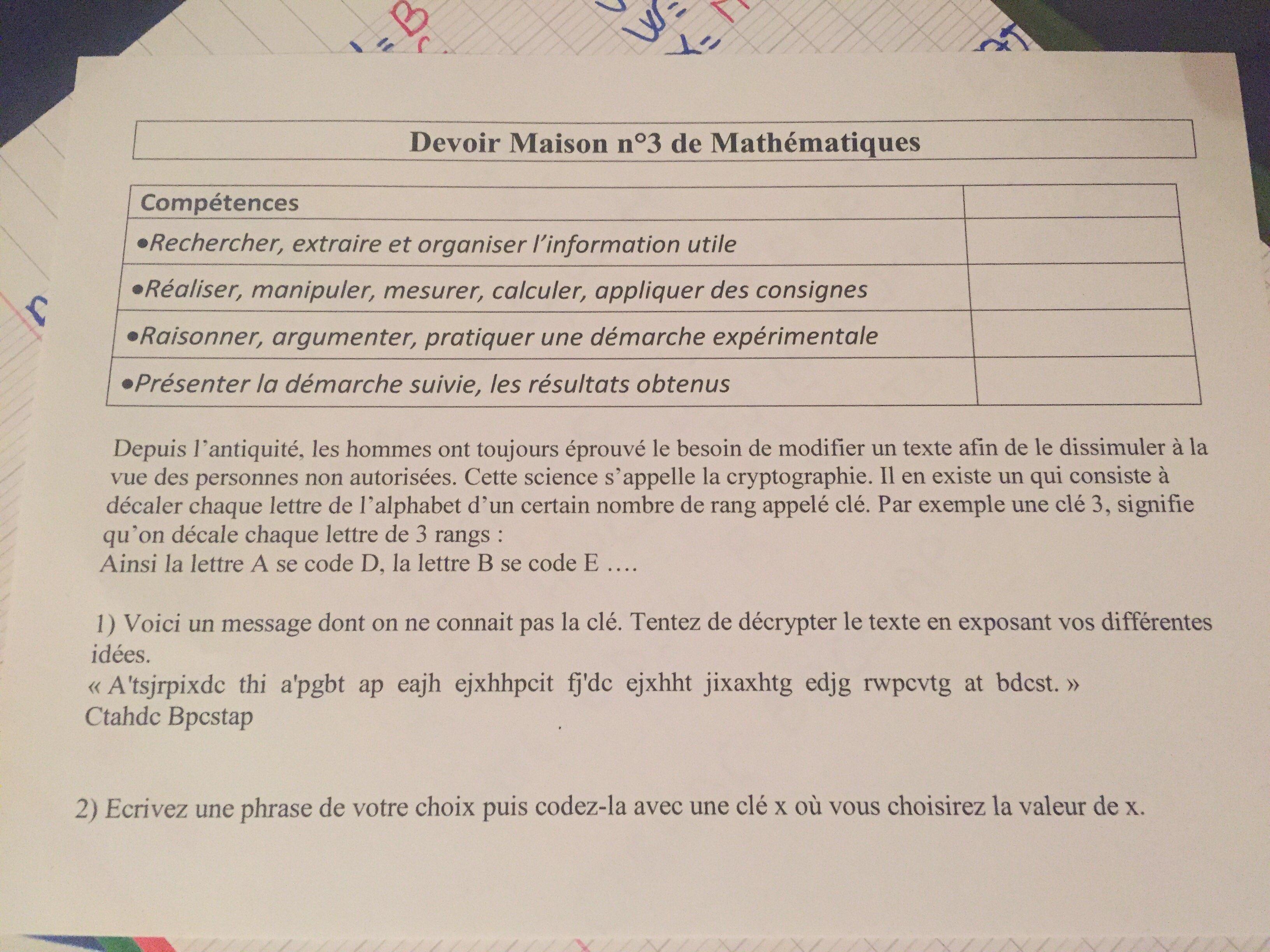 Devoir maison 3eme math ventana blog for Aide devoir maison