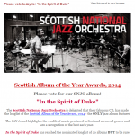 SNJO newsletter Spirit of Duke
