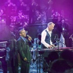 Joe Locke and Kenny Washington with the SNJO