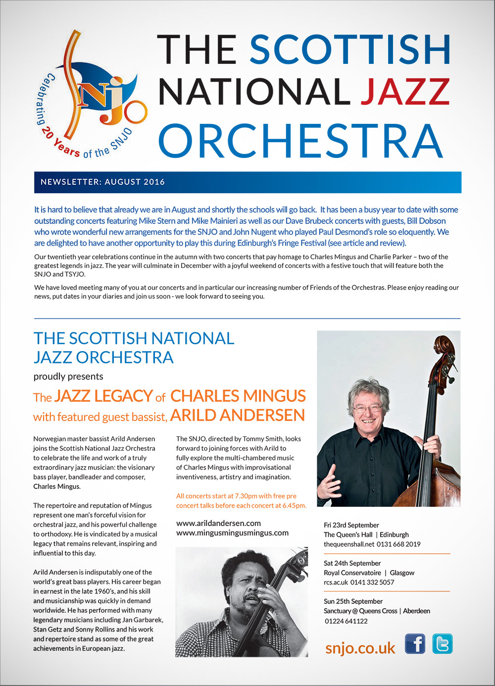 SNJO Newsletter August 2016