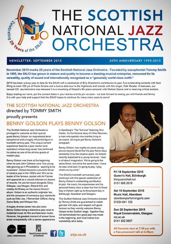 SNJO 2015 autumn newsletter