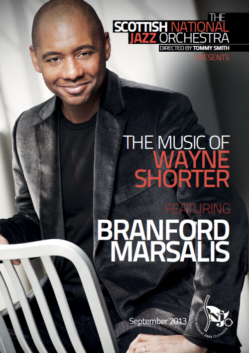SNJO programme Branford Marsalis, The Music of Wayne Shorter