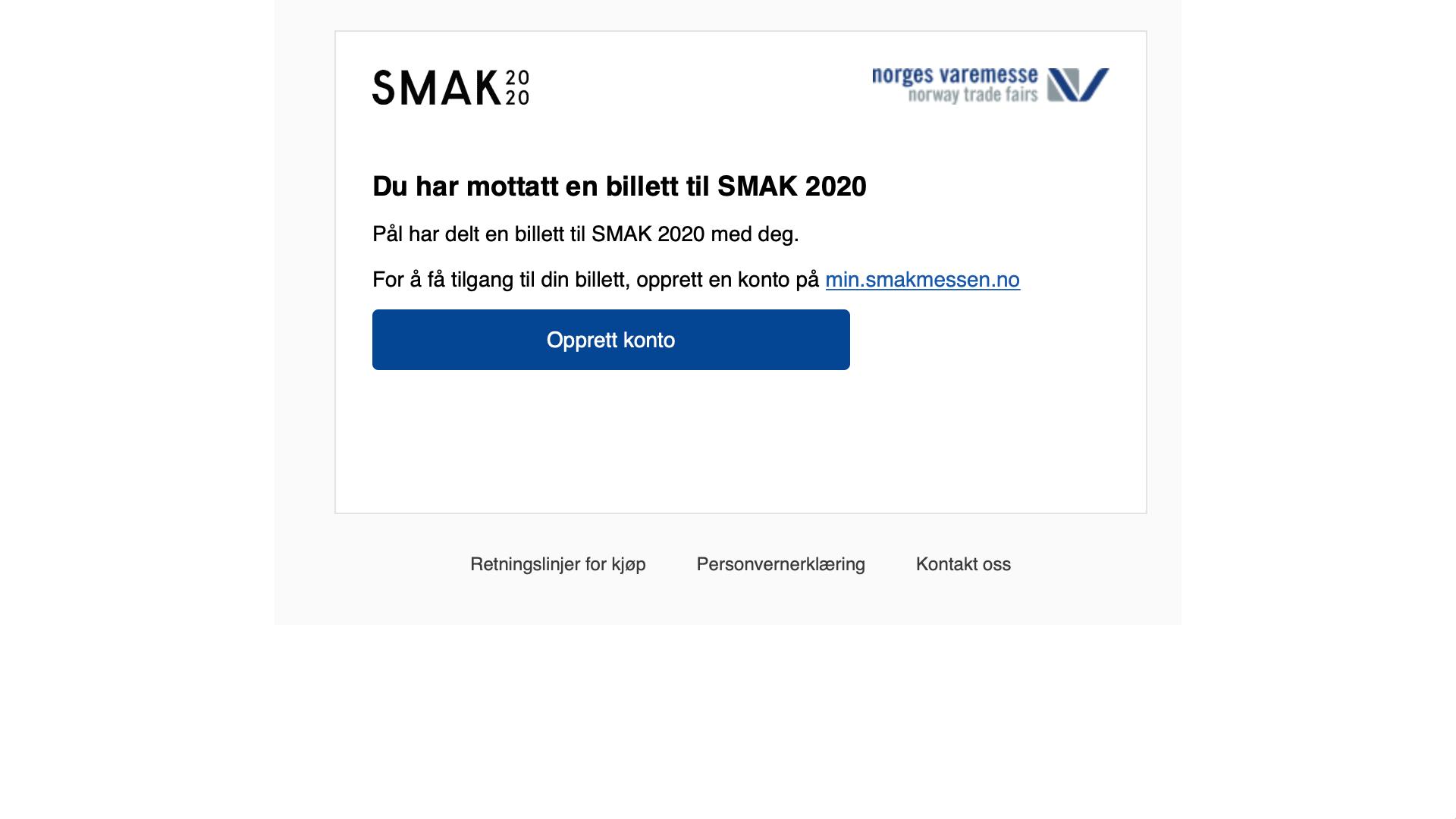 6. MOTTAKER FÅR E-POST