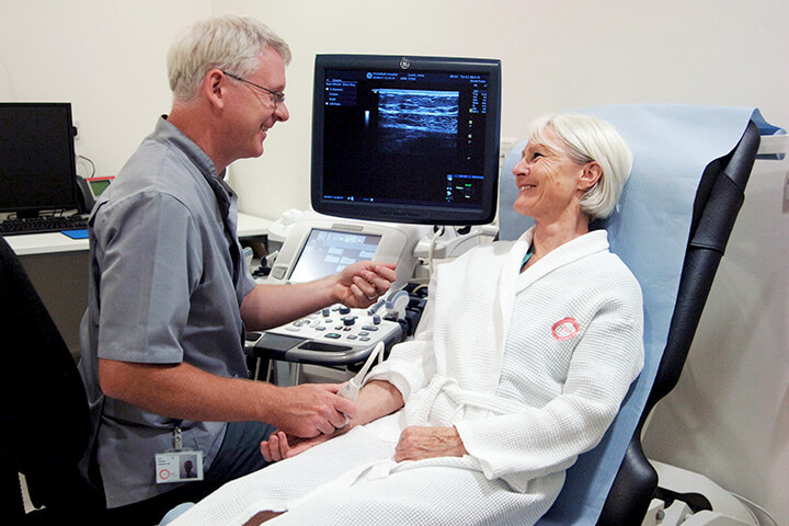 Patient receiving ultrasound scan