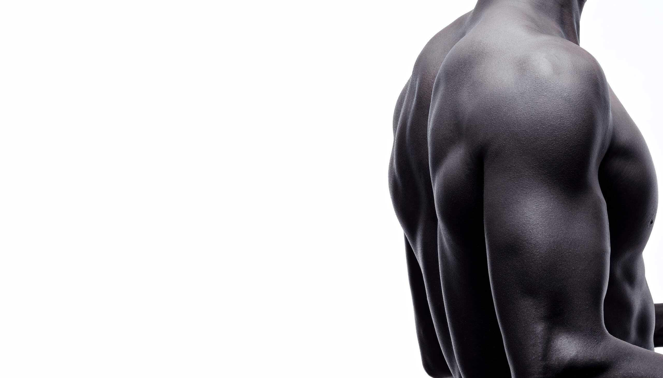 Athletic shoulder - back/side