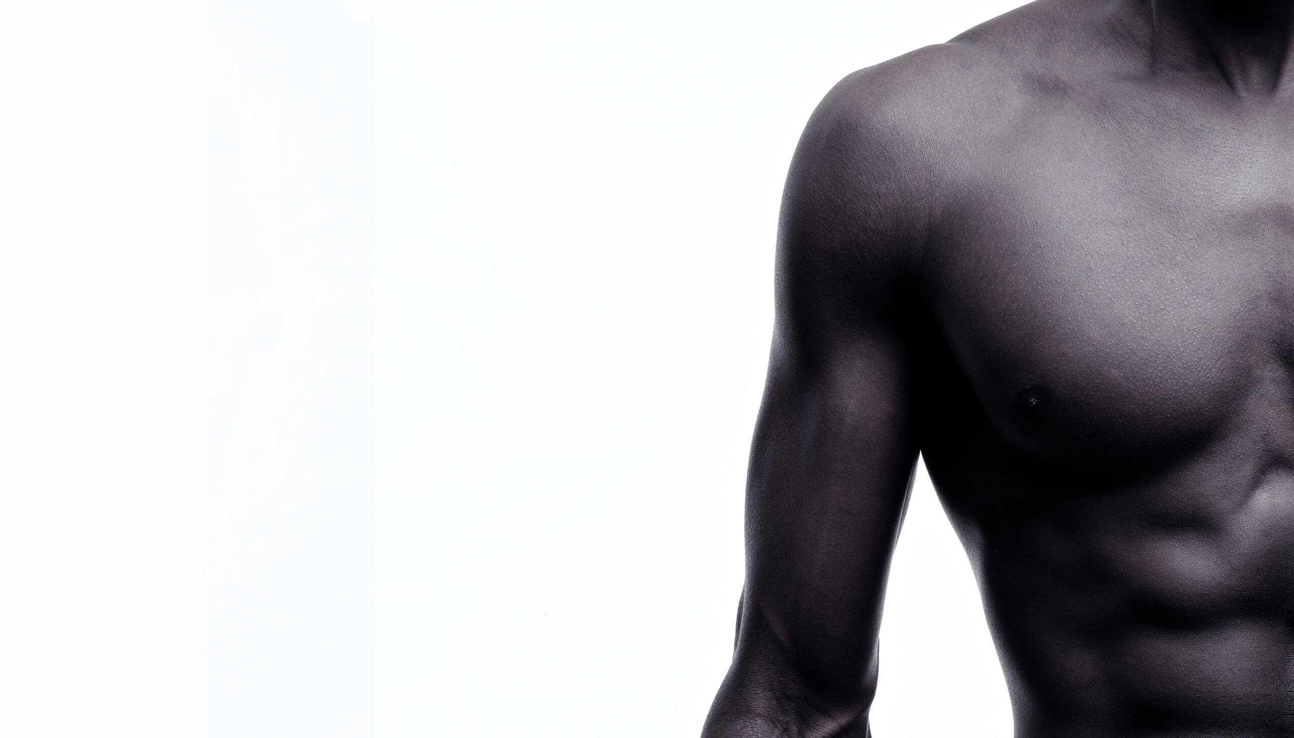 Athletic shoulder - front