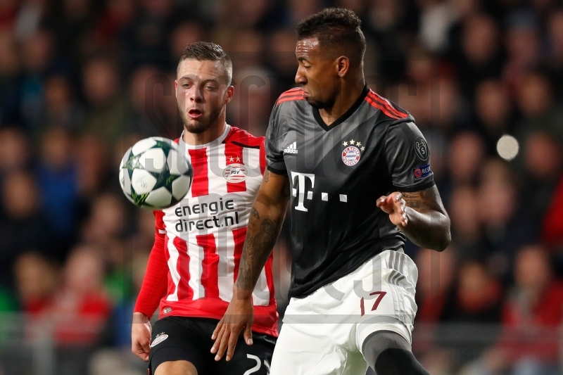 Soccrates Images L R Bart Ramselaar Of Psv Jerome Boateng Of