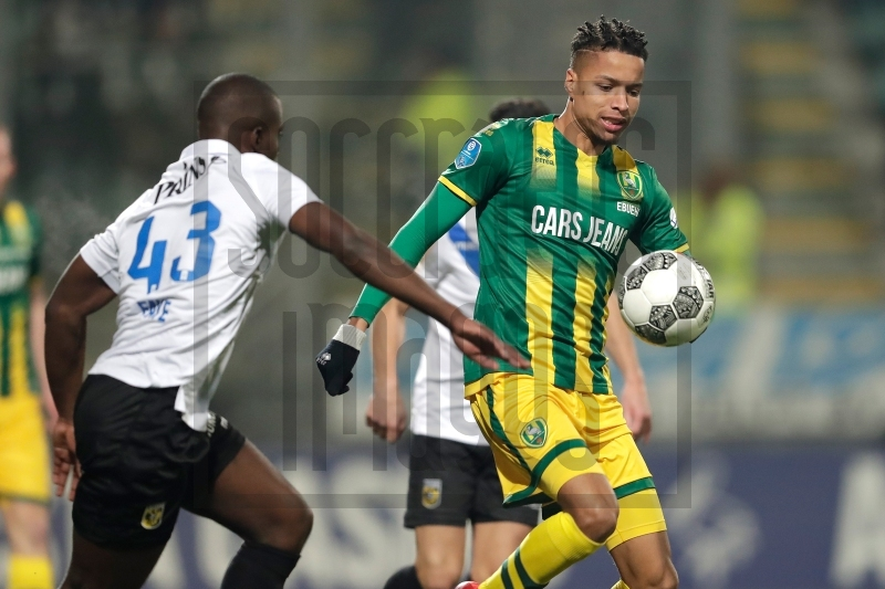 Soccrates Images L R Lassana Faye Of Vitesse Tyronne Ebuehi Of Ado Den Haag