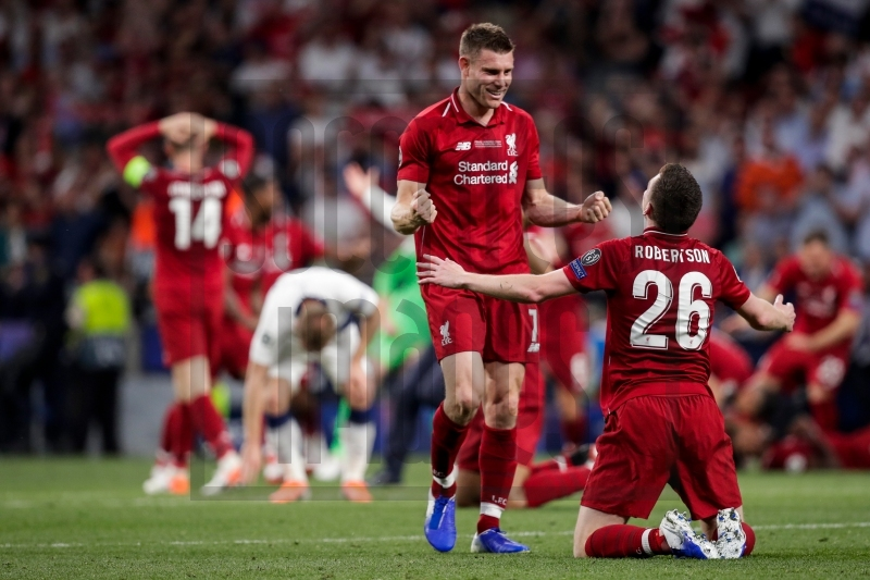 Soccrates Images - (L-R) James Milner of Liverpool FC, Andy