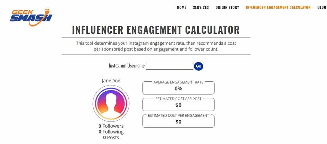 estimation compte instagram