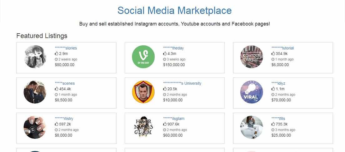 vendre son compte instagram