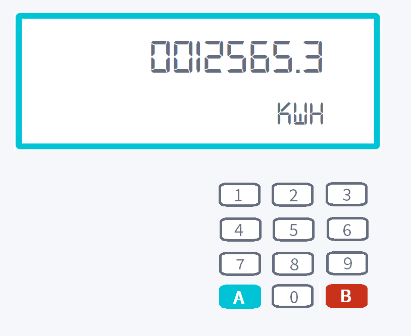 Electricity smart meter with keypad example
