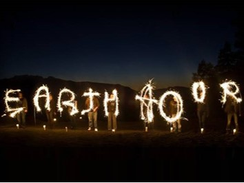 Photo of Earth Hour light sign