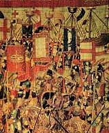 Fotografía de tapiz conservado en el Museo Parroquial de Pastrana