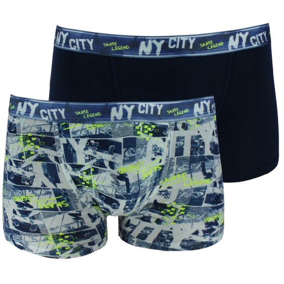 City skate | 2-pack boxer briefs - Stretch cotton