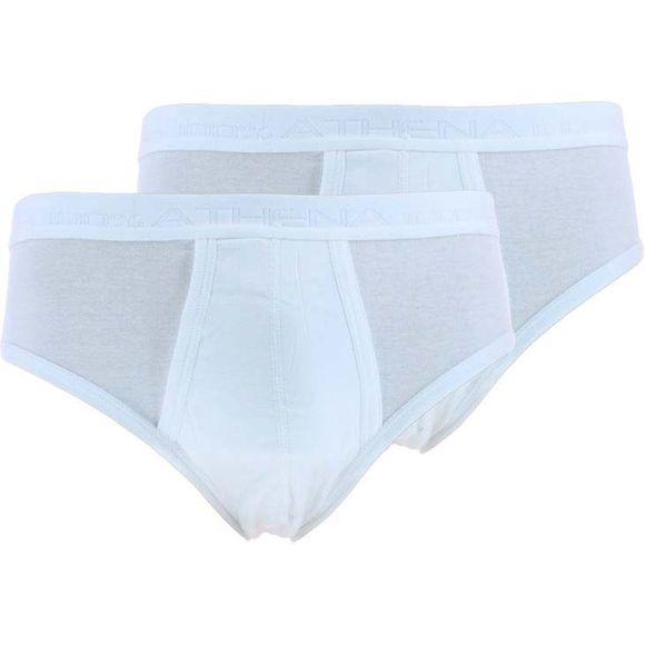 9820 | Lote de 2 slips talla alta - 100% algodón