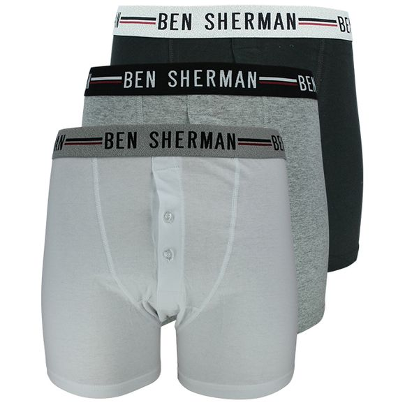 U5_1261_BS--Grey | 3-pack boxer briefs - 100% cotton
