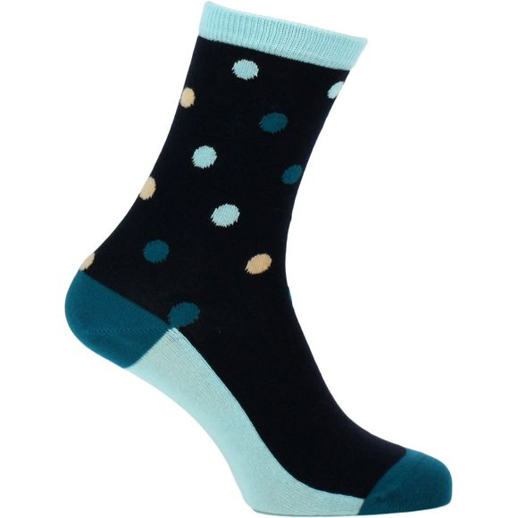 Contrast dot | Socks - Cotton and stretch polyamide