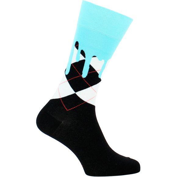 Argyle Drippy | Socks - Cotton and stretch polyamide