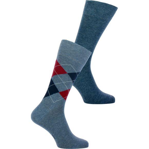Mix | Lote de 2 pares de calcetines clásicos - Algodón y poliamida stretch