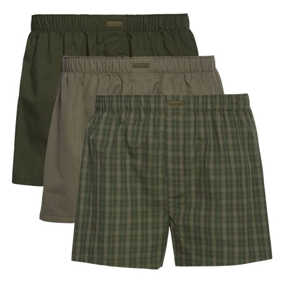 Woven | 3-pack boxer shorts - Cotton and polyester