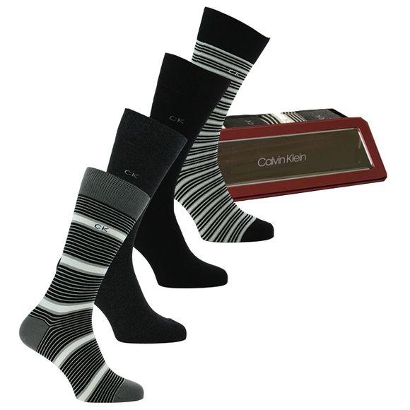 Boîte cadeau | Lote de 4 pares de calcetines clásicos - Algodón, poliamida stretch y poliéster