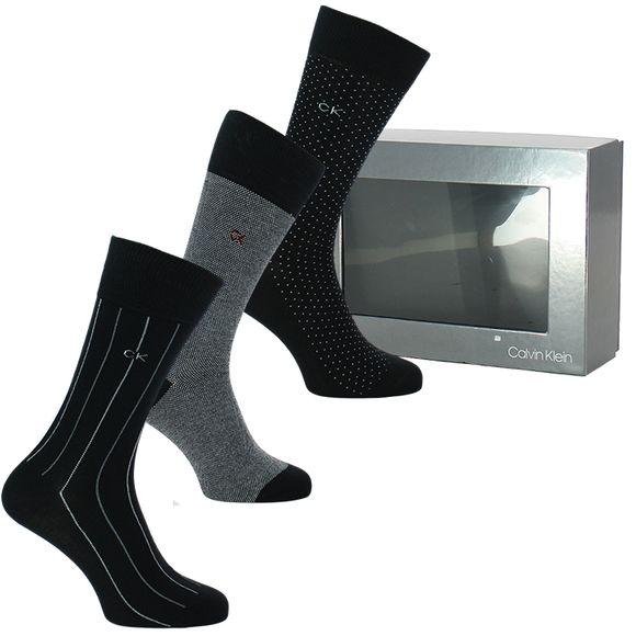 Boîte cadeau | Lote de 3 pares de calcetines clásicos - Algodón y poliamida stretch