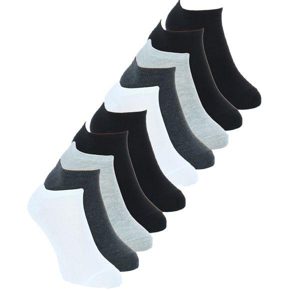 S Pack | Lote de 10 pares de tobilleros - Algodón y poliamida stretch