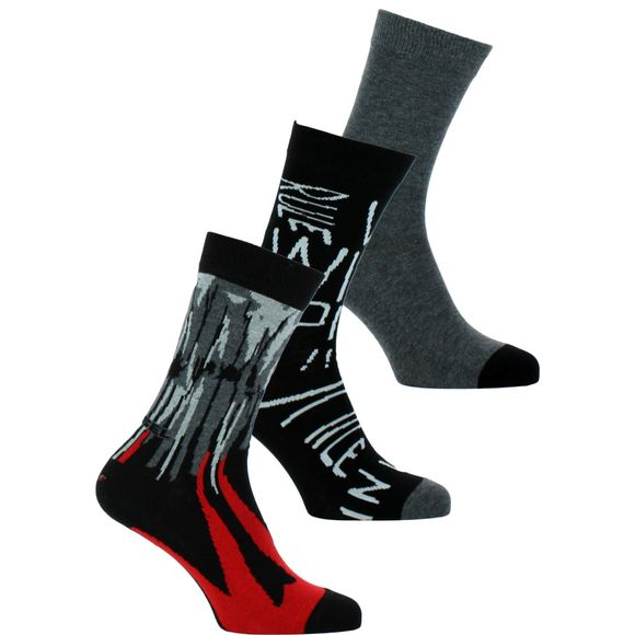 OOSAYJ-OWAJT   Lote de 3 pares de calcetines clásicos - Algodón y nilón stretch