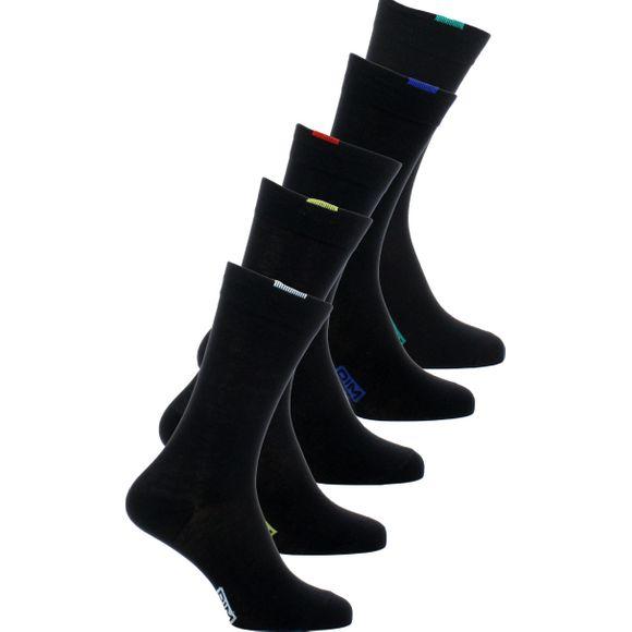 4CU | Lote de 5 pares de calcetines clásicos - Poliéster y algodón stretch