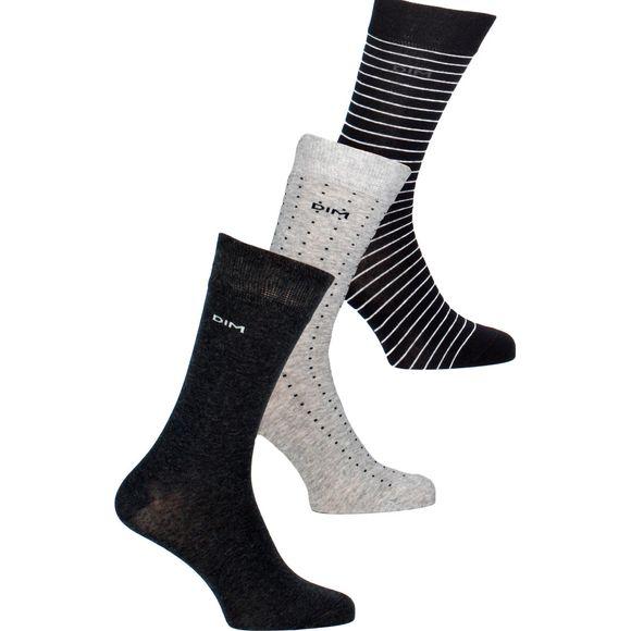 05QP | Lote de 3 pares de calcetines clásicos - Algodón, poliéster y poliamida stretch