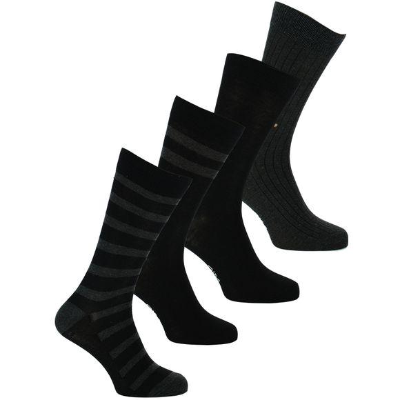 Ecodim   Lote de 4 pares de calcetines clásicos - Poliéster y algodón stretch