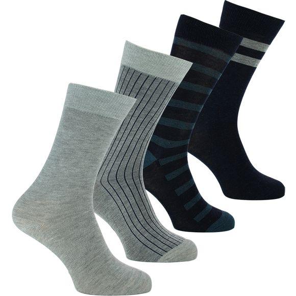 Ecodim | Lote de 4 pares de calcetines clásicos - Poliéster y algodón stretch