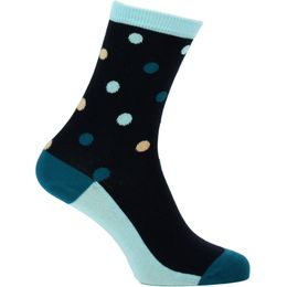 Contrast dot | 1 par de calcetines clásicos - Algodón y poliamida stretch
