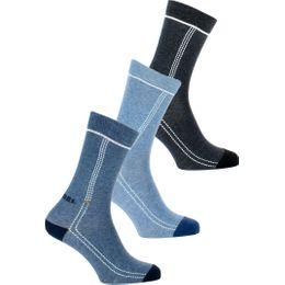 00SAYJ-0SAMV | 3-pack socks - Cotton and stretch nylon