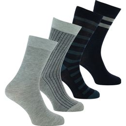Ecodim | 4-pack socks - Polyester and stretch cotton