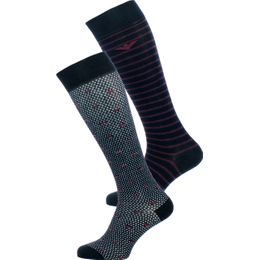 302301-7A282 | 2-pack long length socks - Cotton and stretch polyamide