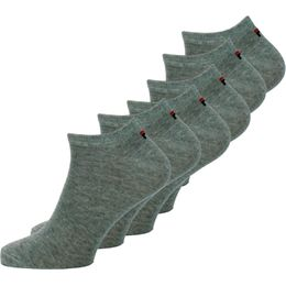 F9100 | 6-pack ankle socks - Cotton and stretch polyester