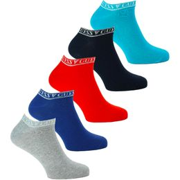 U94G17ZZ02T | 5-pack ankle socks - Cotton and stretch polyamide