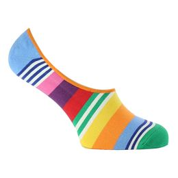 Multi stripe liner | Invisible socks - Cotton and stretch nylon