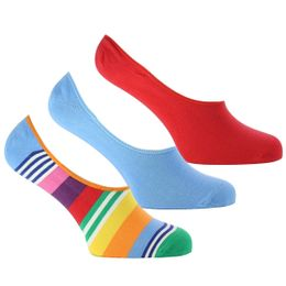 3-Pack stripe | 3-pack invisible socks - Cotton and stretch nylon