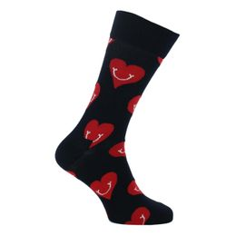 Smiley heart | Socks - Cotton and stretch polyamide