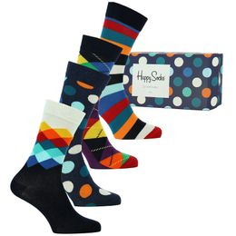 Boîte cadeau | 4-pack socks - Cotton and stretch polyamide