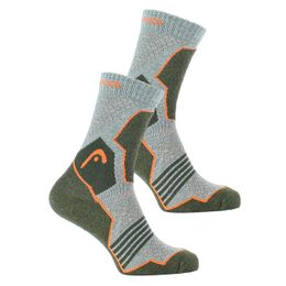 Hiking crew | 2-pack socks - Polyester, cotton and stretch polyamide