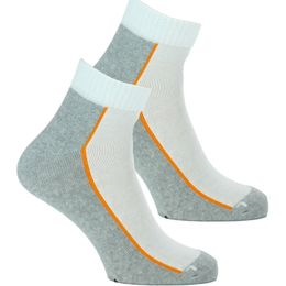 Quarter | 2-pack short socks - Cotton, polyester and stretch polyamide