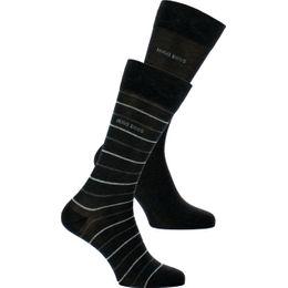 Fine stripe | 2-pack socks - Cotton and stretch polyamide